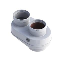 Адаптер раздельного дымоудаления Bosch 80/80 AZ377