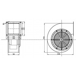 Нагнетающий вентилятор для котлов RV-25