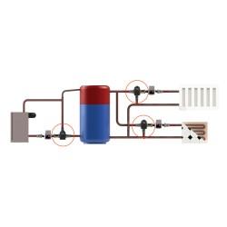 Привод (сервомотор) с контроллером Laddomat Thermomatic TVM 2.0 для смесительных клапанов