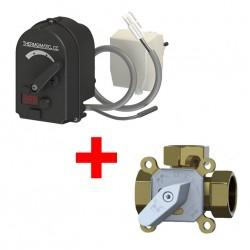 "Акция! Привод (сервомотор) с контроллером Laddomat Thermomatic CC 2.0 + Трехходовой клапан Laddomat TV 3S R25 / 1"""